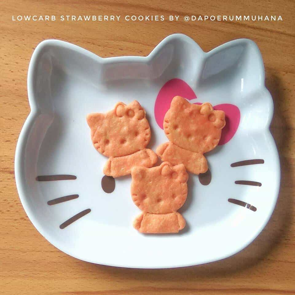 LOWCARB STRAWBERRY COOKIES ALA ALMIRA NOOR TALITHA PUTRI