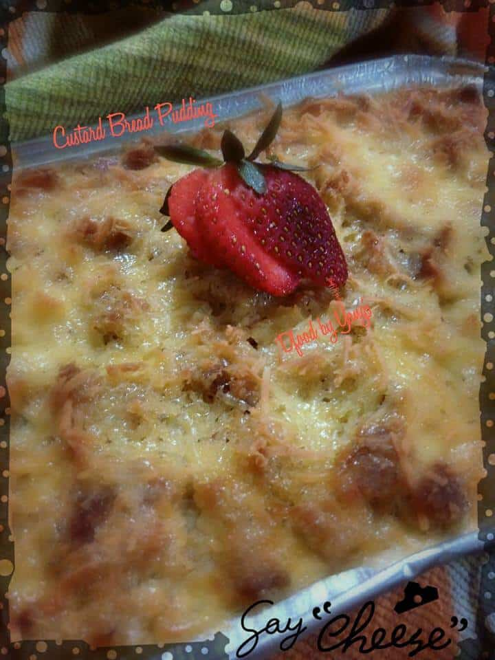 CUSTARD BREAD PUDDING ALA YAYANG AR