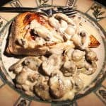 Salmon mushrooms sauce Ala Ame De Raaf