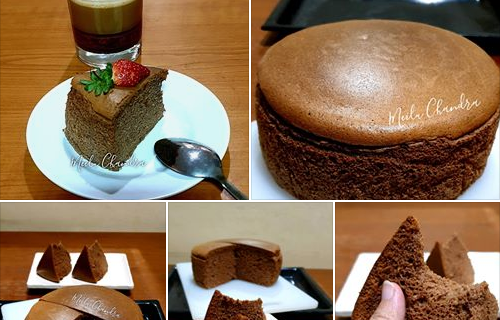 Keto Choco Japanese Cotton Cheesecake Ala Meilu Chandra